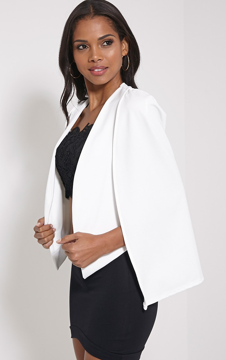 Leola Cream Cape Blazer 4