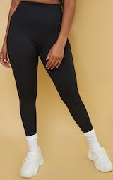 Black Premium Ribbed Seamless Legging 2