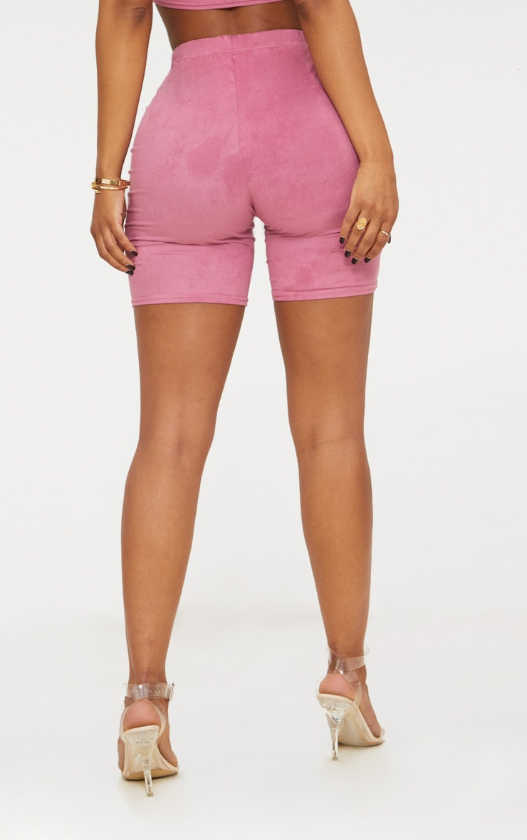 Shape Rose Faux Suede Cycling Shorts 4