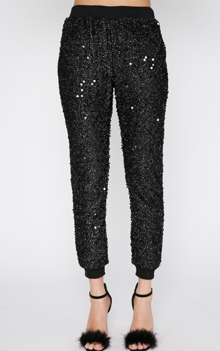 Tama Black Sequin Jogger 3