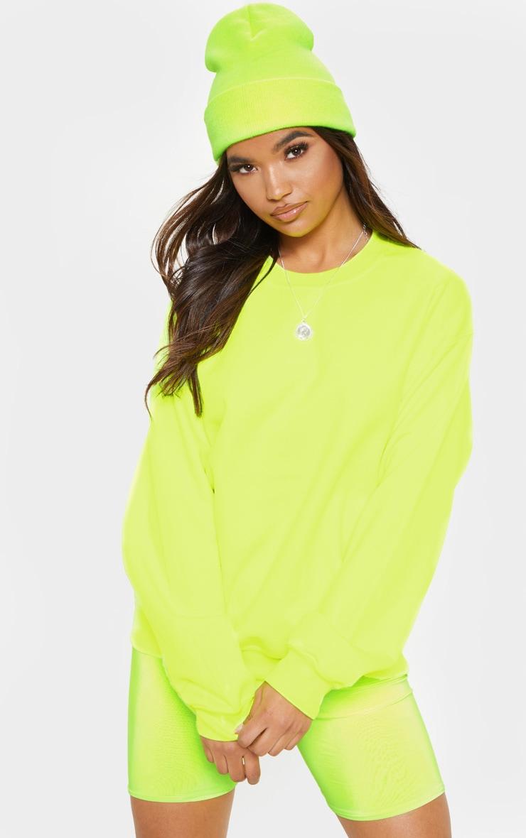 Neon Yellow Ultimate Oversized Sweater 1