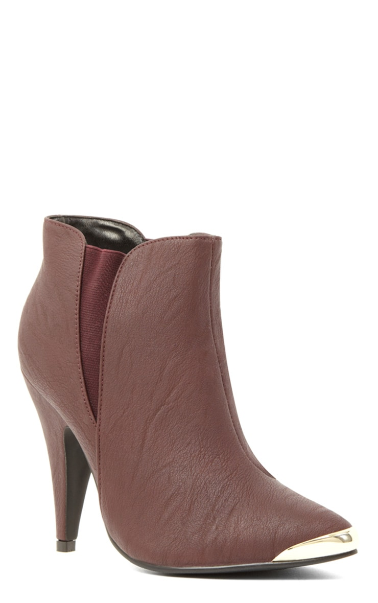 Anastasia Burgundy Leather Ankle Boots 4