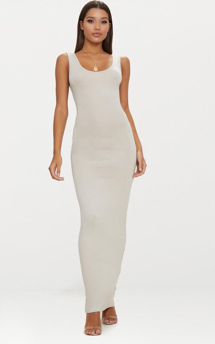 Stone Basic Scoop Neck Maxi Dress 1