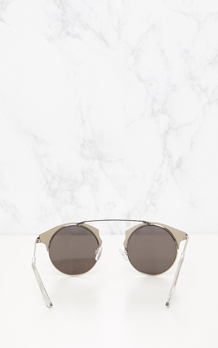 Silver Curved Top Bar Sunglasses 5
