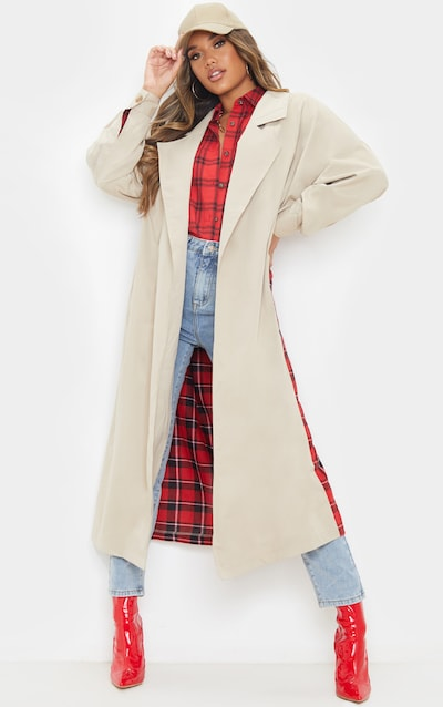 Stone Contrast Check Panel Trench