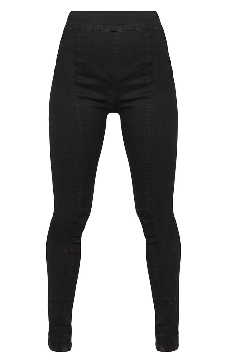 Petite Black Seam Detail Skinny Jeans 3