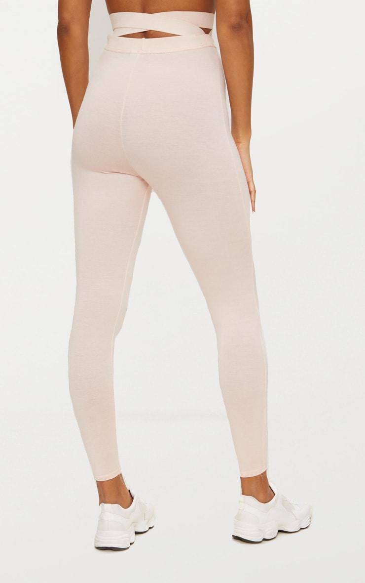 Nude Strappy Waist Leggings 4