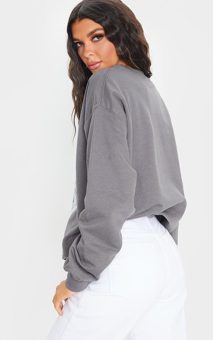 Grey Los Angeles Wing Printed Sweatshirt 2