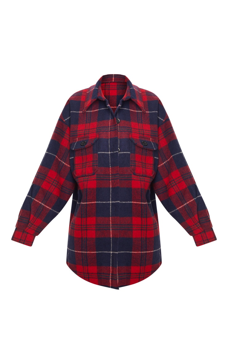 Navy Check Oversized Shacket 3