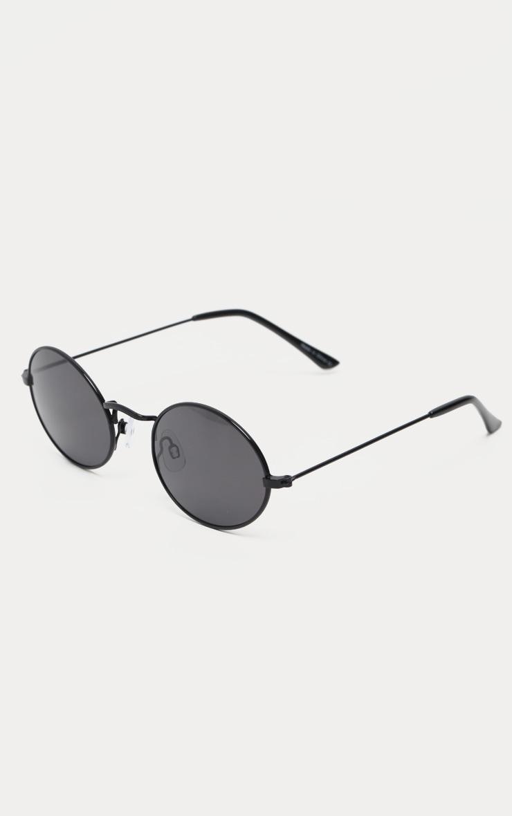 Black Oval Sunglasses  2