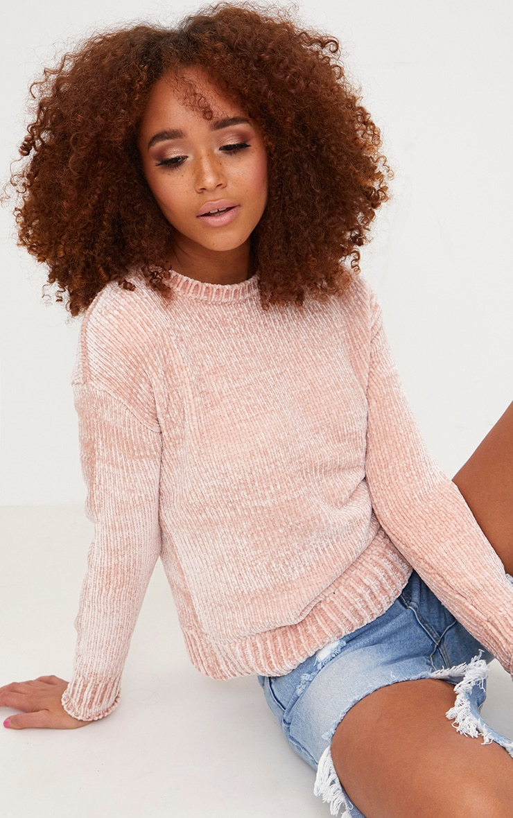 Pink Chenille Jumper 1