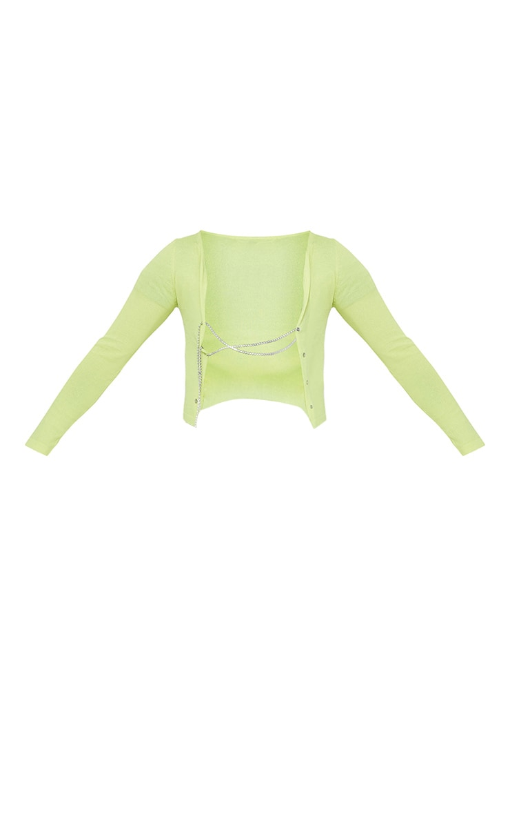 Lime Diamante Lace Up Knitted Top 5