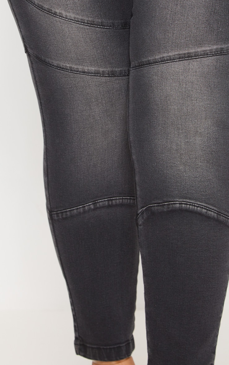 Plus Black  Panel Detail Skinny Jeans 5