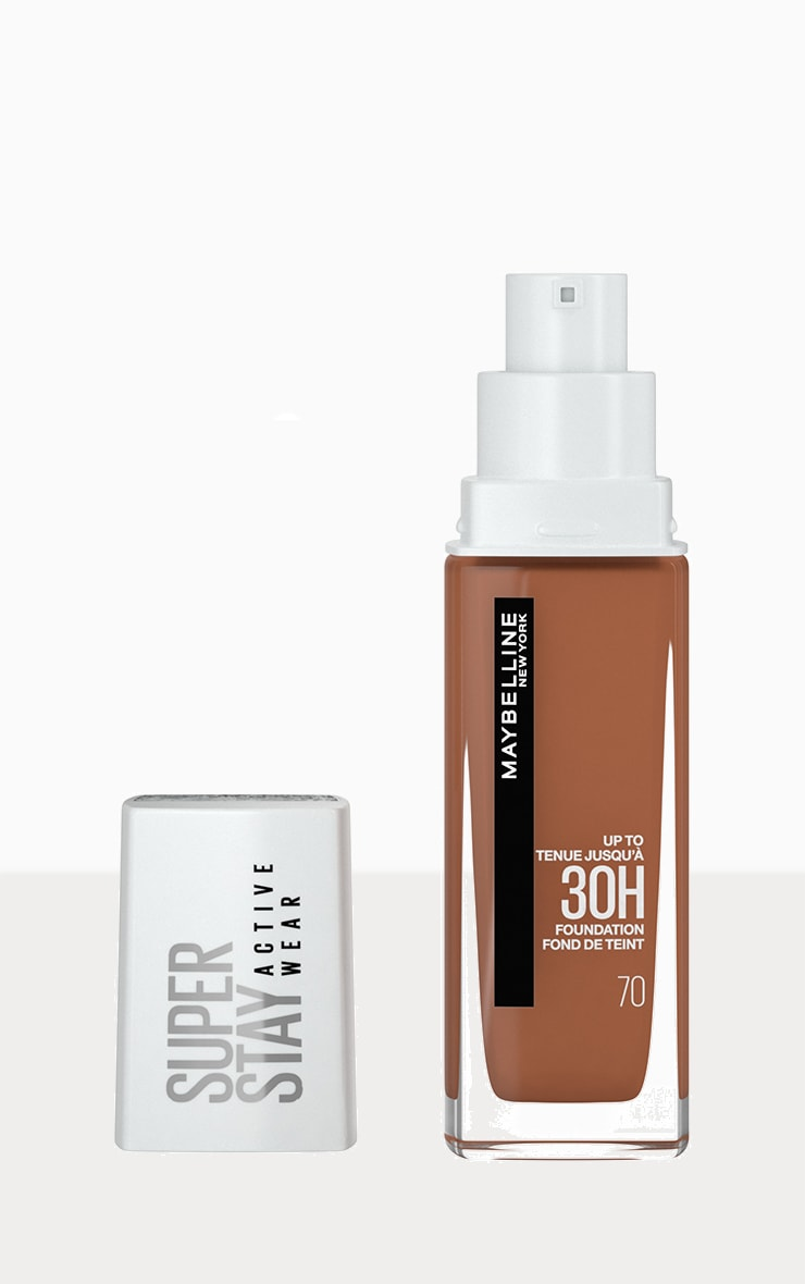 Maybelline Superstay Active Wear Full Coverage 30 Hour Long-lasting Liquid Foundation 70 Cocoa 1