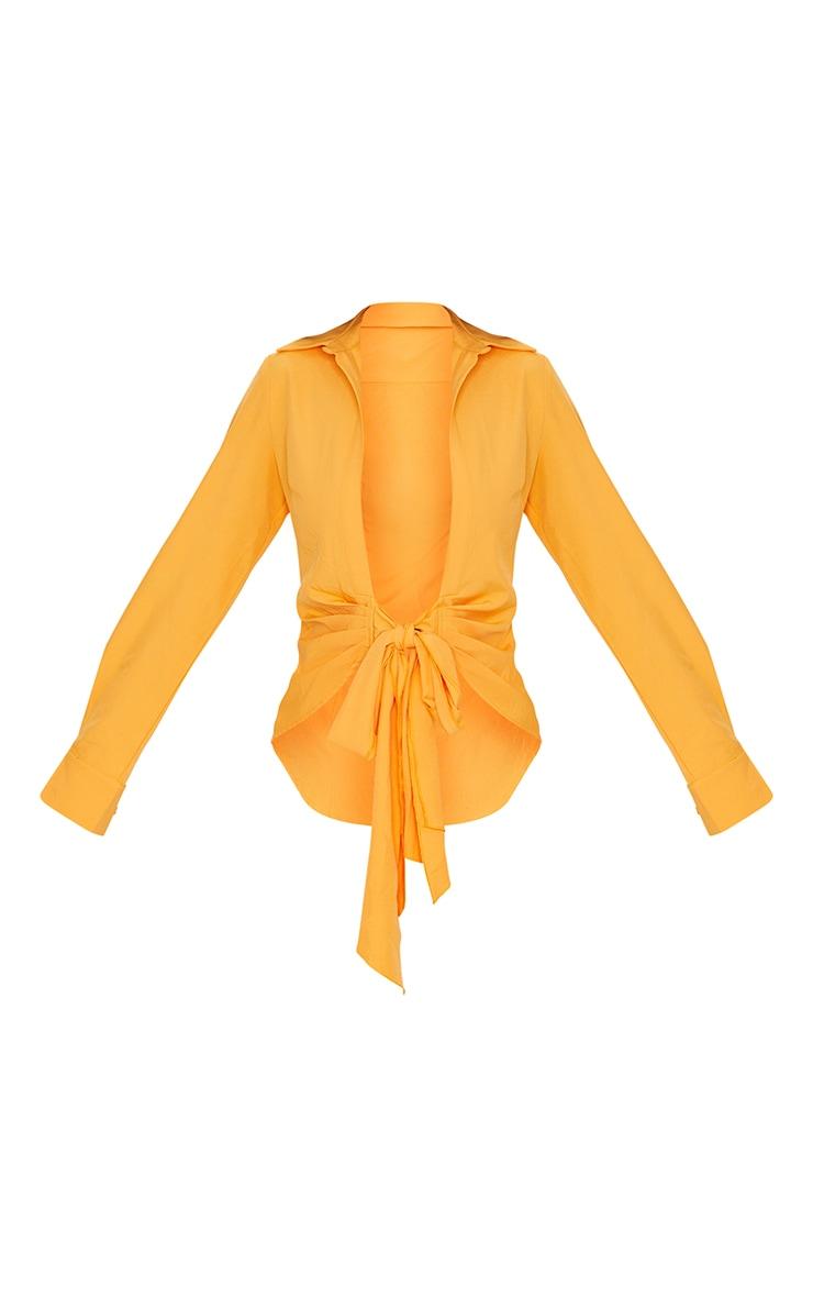 Tangerine Woven Tie Front Shirt 5