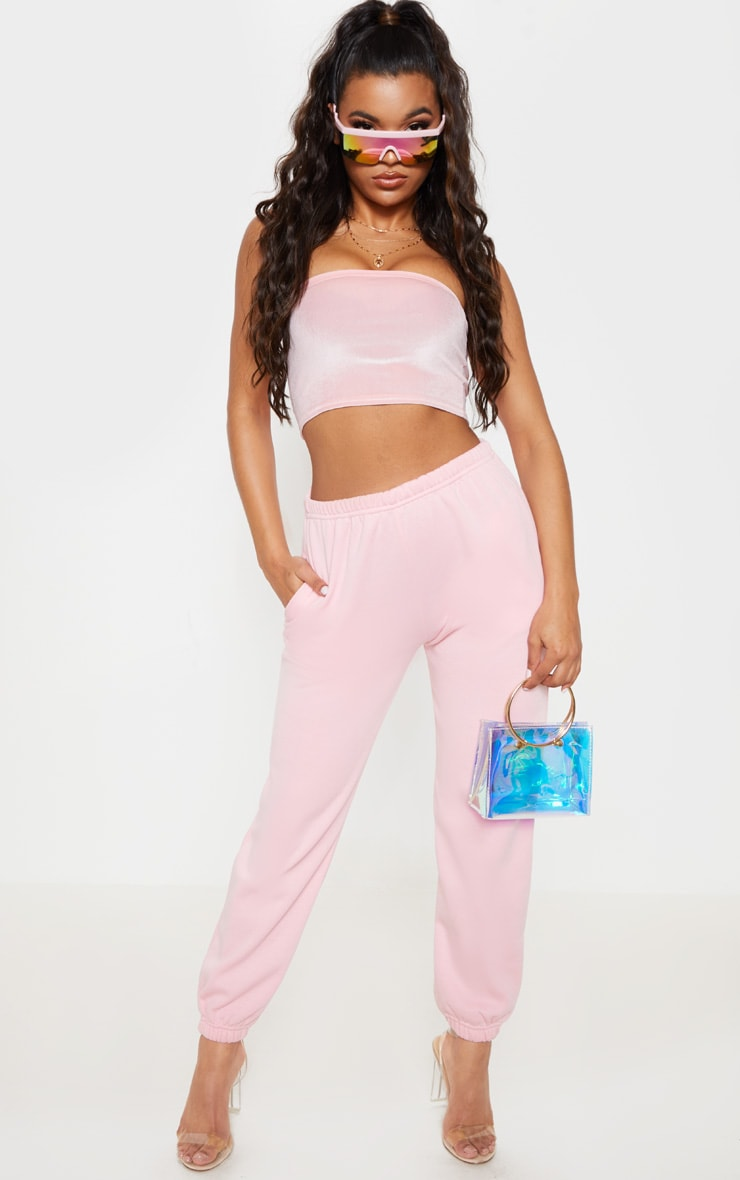 Pastel Pink Casual Jogger