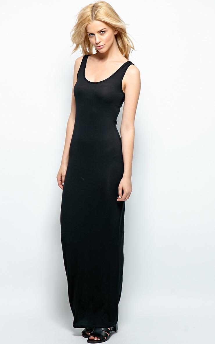 Zoe Black Jersey Maxi Dress 3