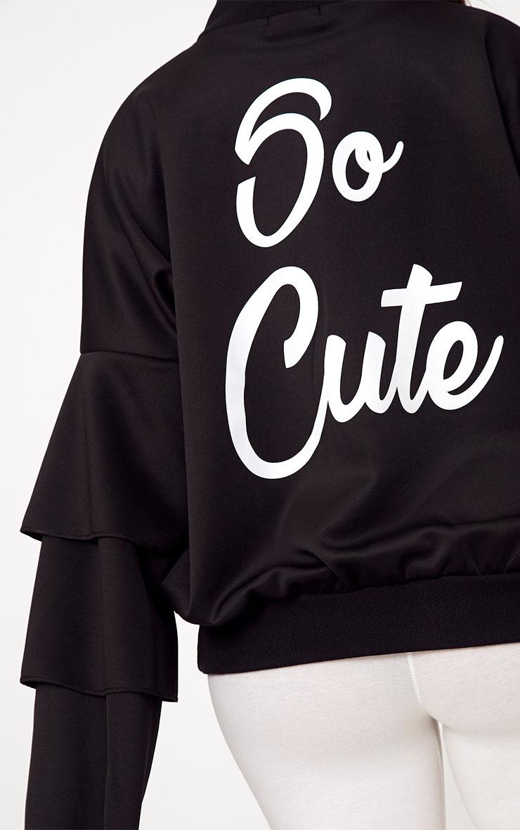 Shape Black So Cute Bomber Jacket 6
