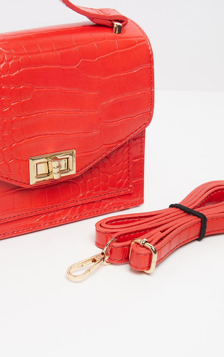 Red Croc Cross Body Bag 4