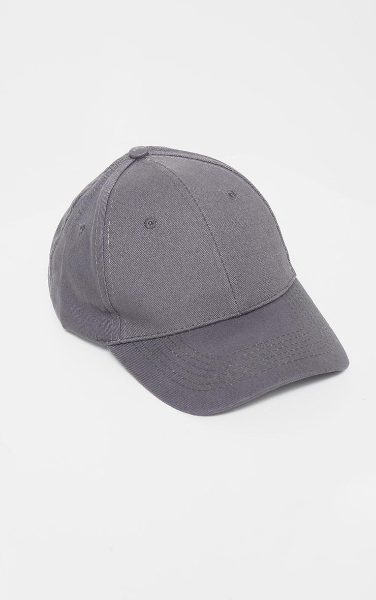 Charcoal Blue Woven Baseball Cap 4