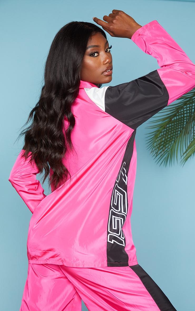 Pink Nylon 1997 Oversized Sports Jacket 2