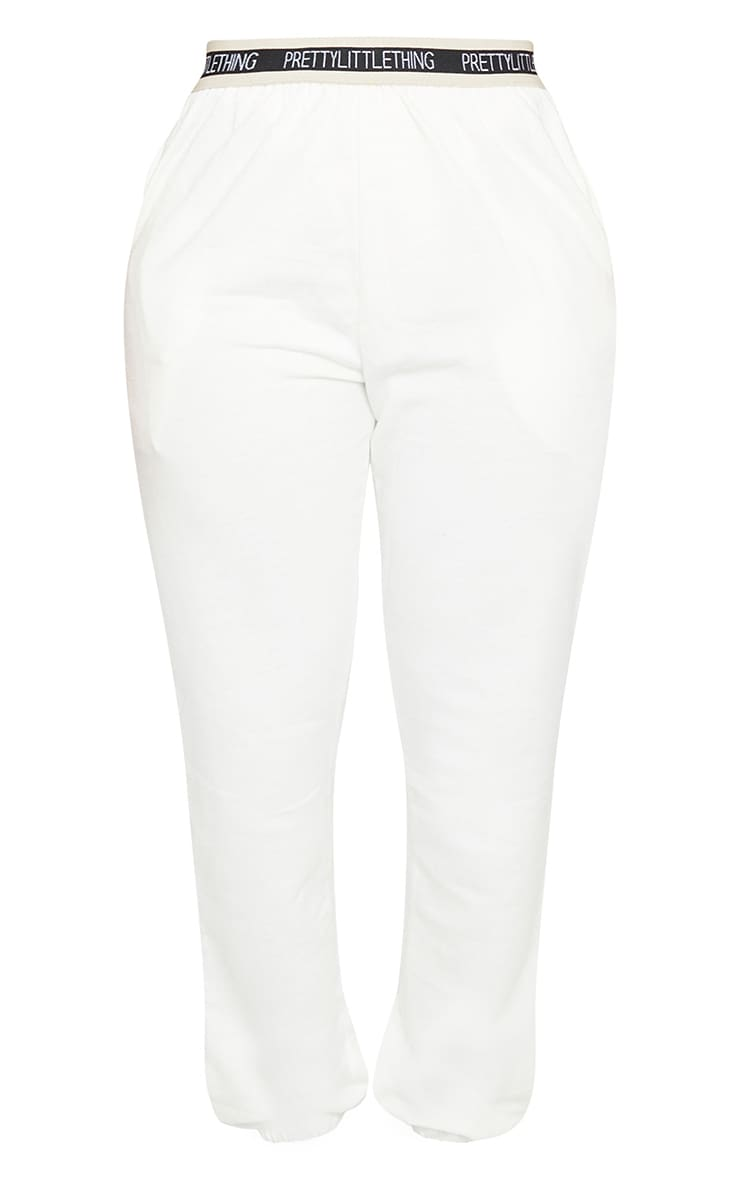 PRETTYLITTLETHING Shape Cream Band Detail Joggers 5