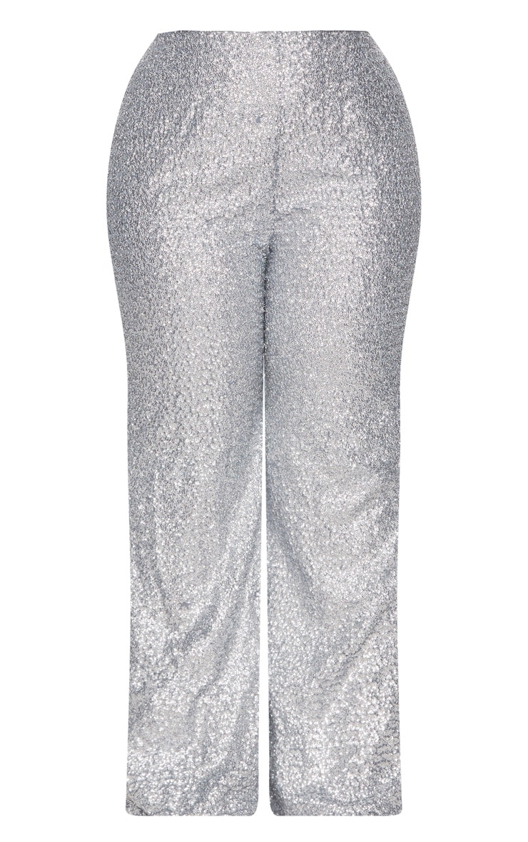 Plus Silver Sequin Flares 3