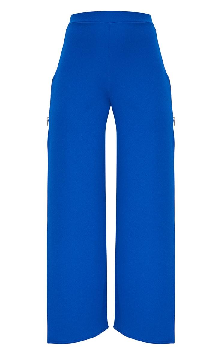 Cobalt Zip Split Wide Leg Track Pants 3