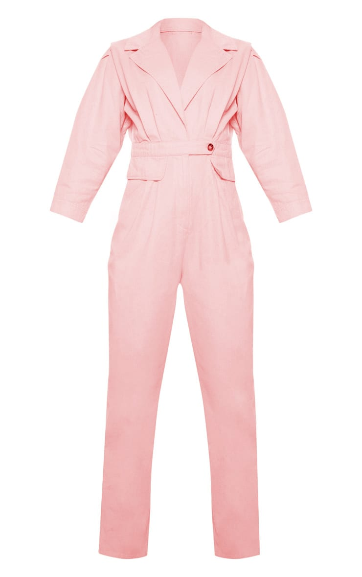 Dusty Pink Utility Boilersuit 3