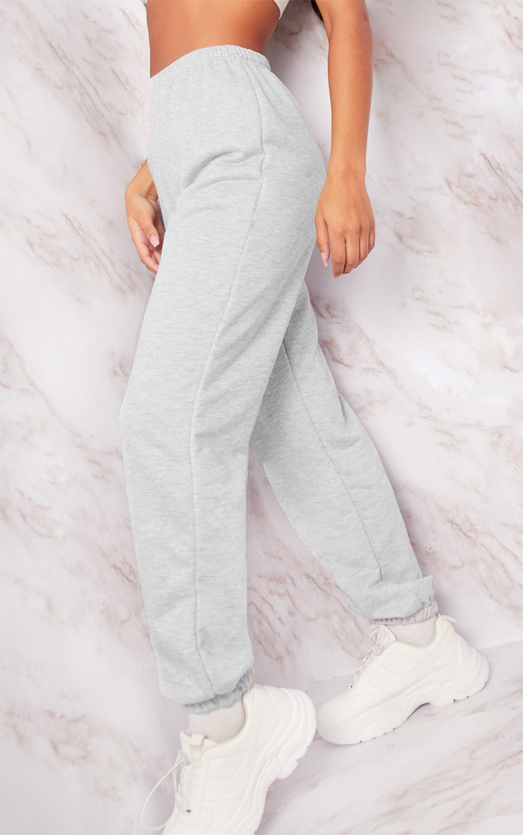 Grey Basic Cuffed Hem Track Pants 5