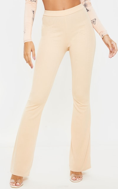 Fawn Bandage Flared Trouser