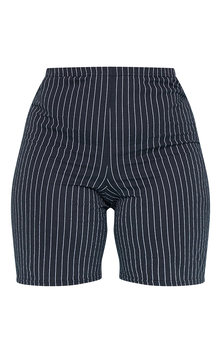 RECYCLED Plus Black Pinstripe Cycle Shorts 3