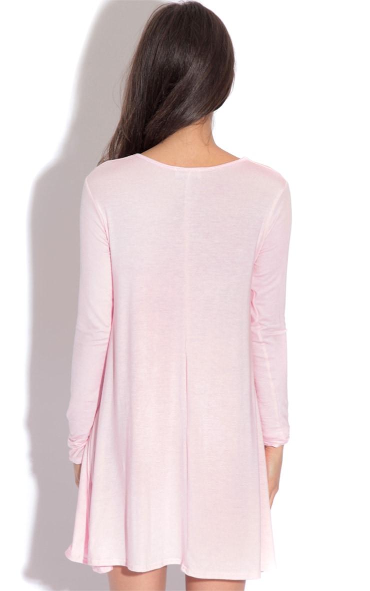 Rosie Pink Jersey Swing Dress 2