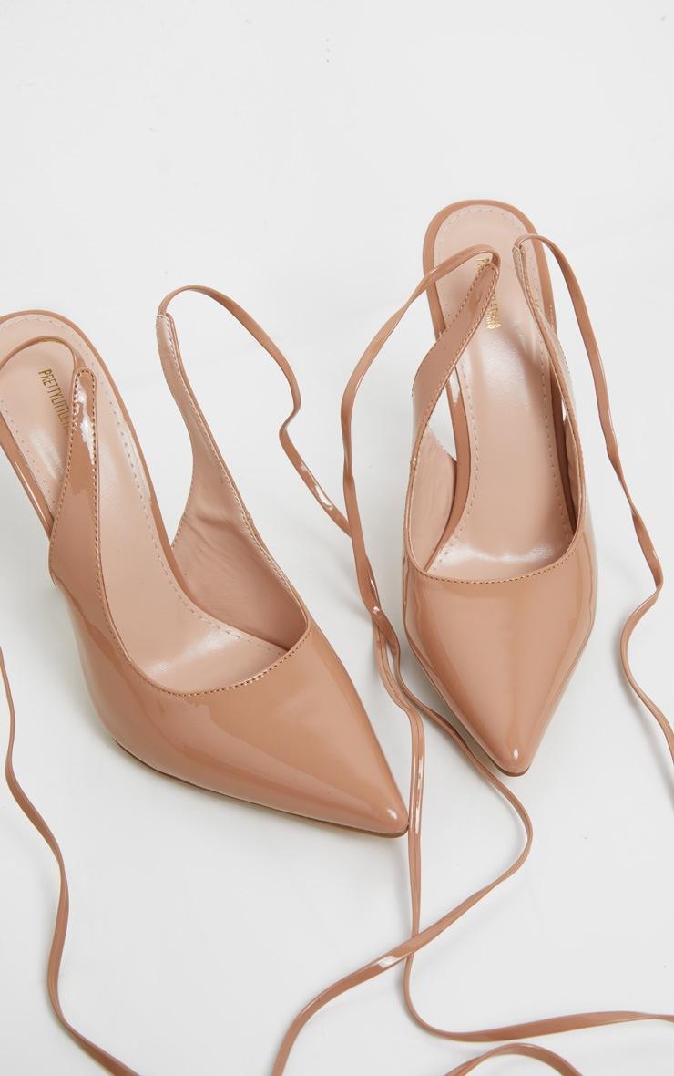 NudeAnkle Tie Court Shoe 3