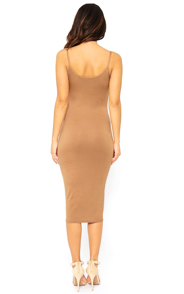 Basic Camel Midi Vest Dress 2