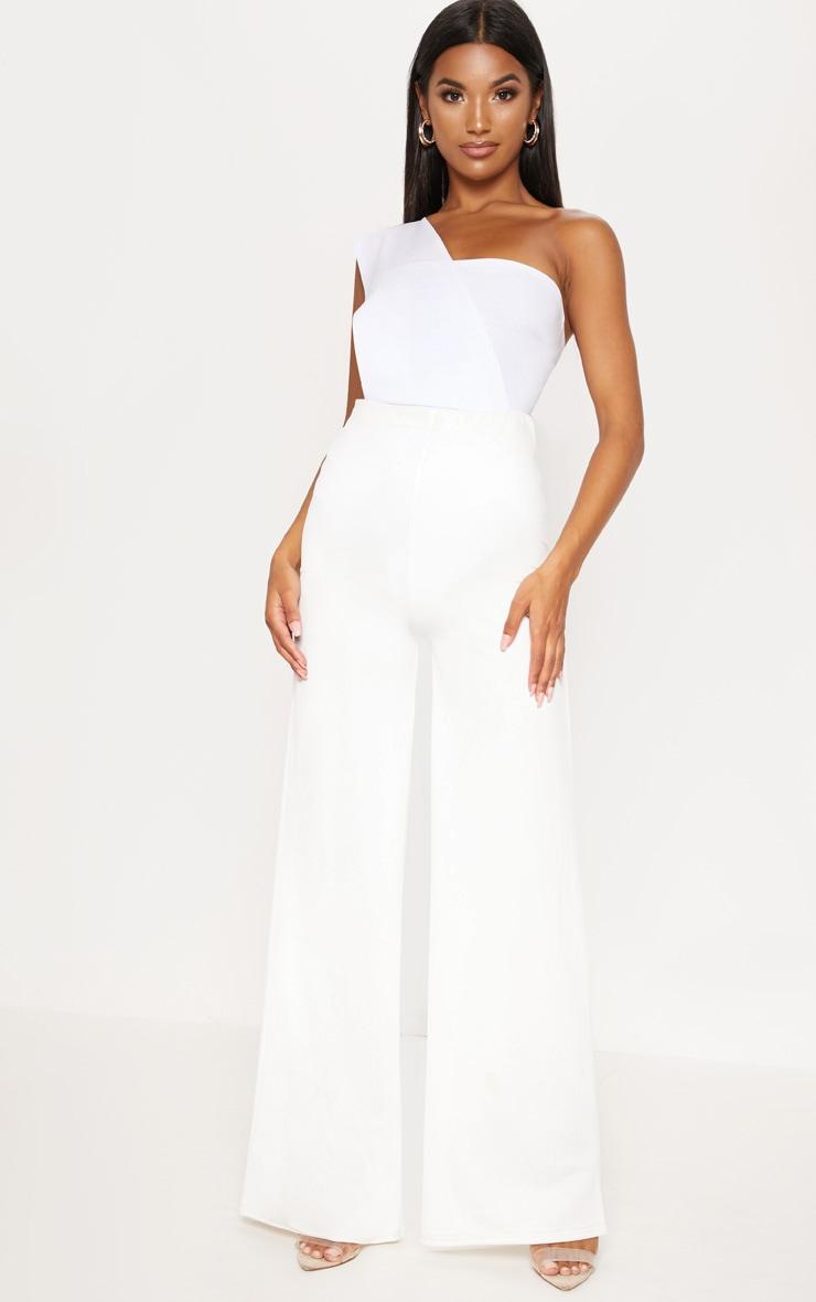 White One Shoulder Bodysuit 5