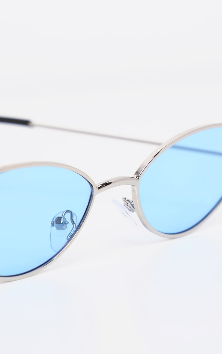 Blue Revo Metal Almond Shape Readers 4