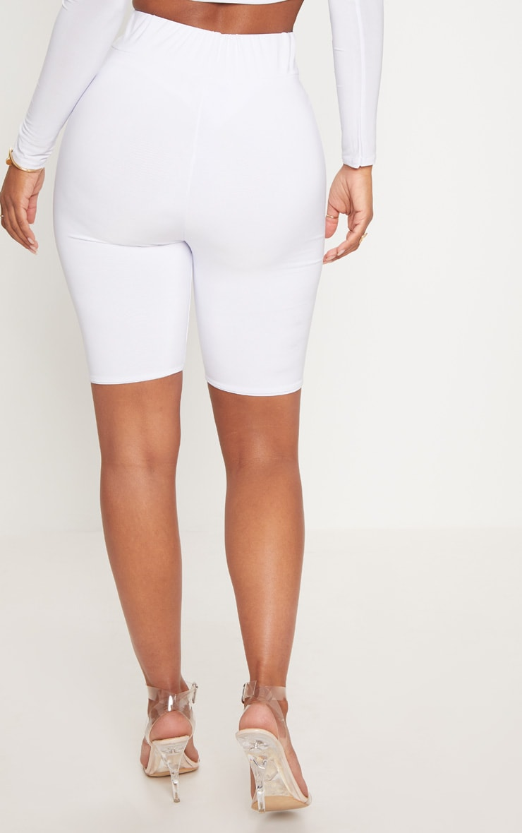 Shape White Slinky bike Shorts 4