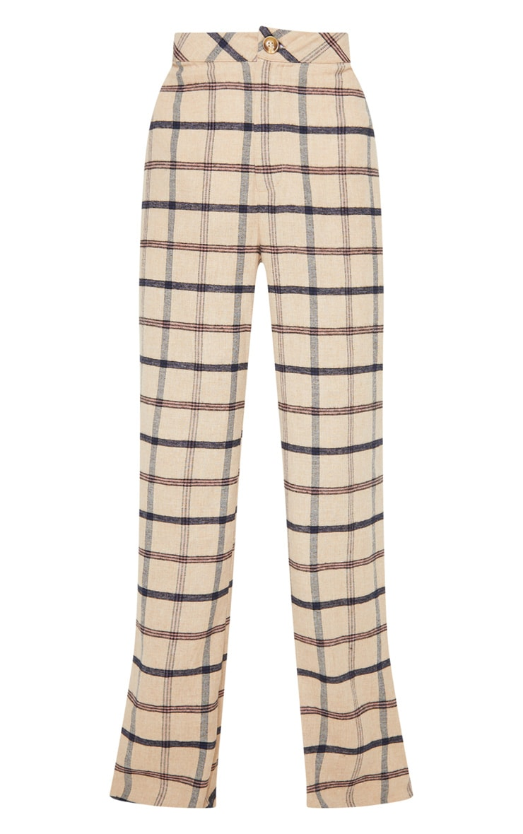 Stone Check Wide Leg Pants 3
