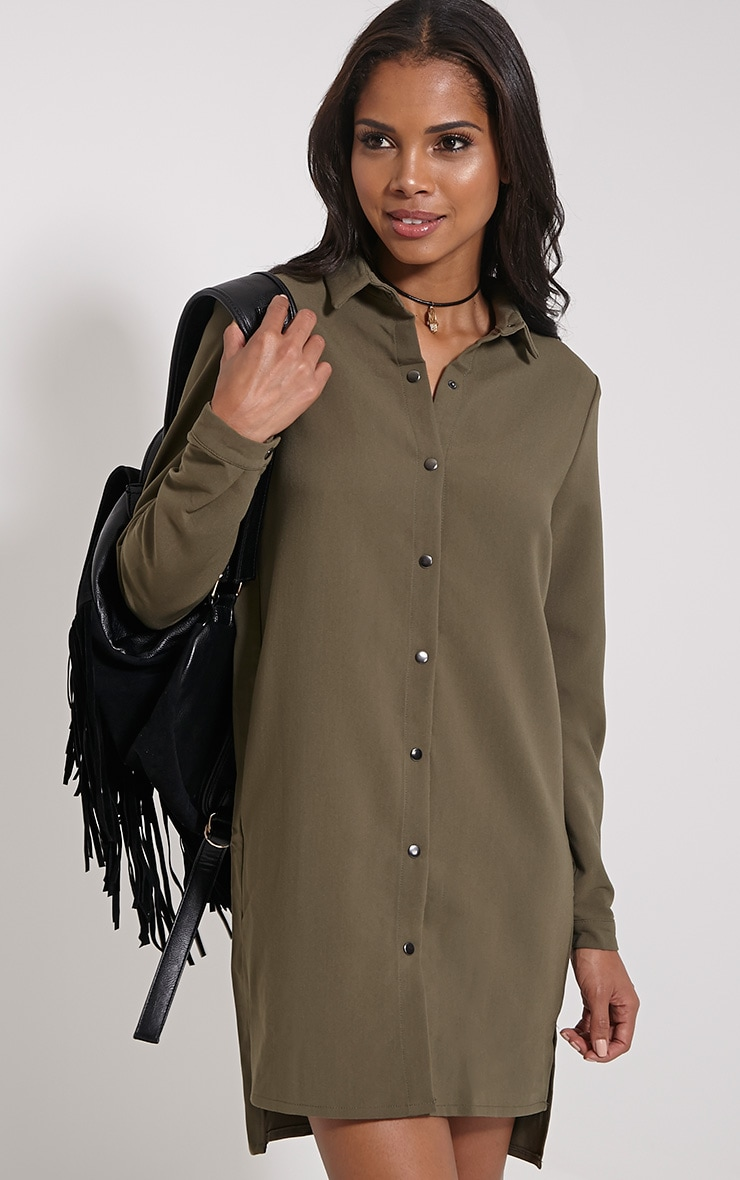 Raden Khaki Premium Shirt Dress 1