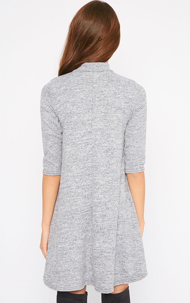 Haden Grey Turtle Neck Knitted Swing Dress  2