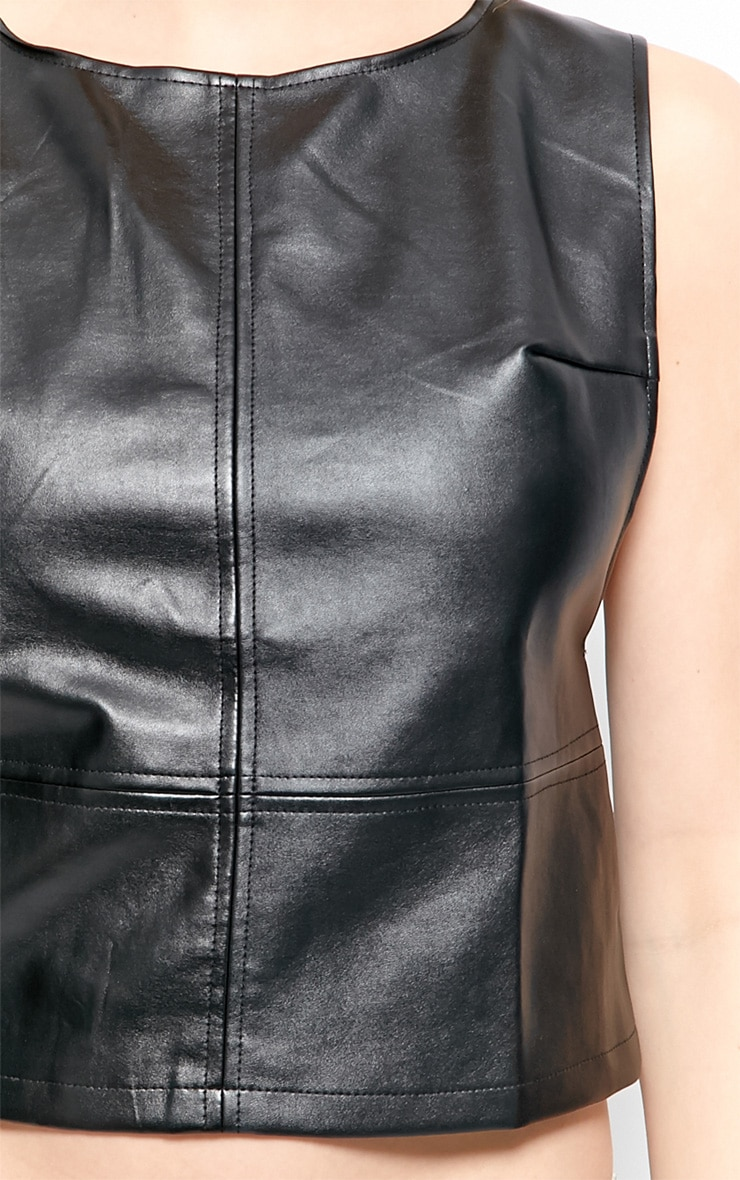 Annalee Racer Back Leather Vest 4