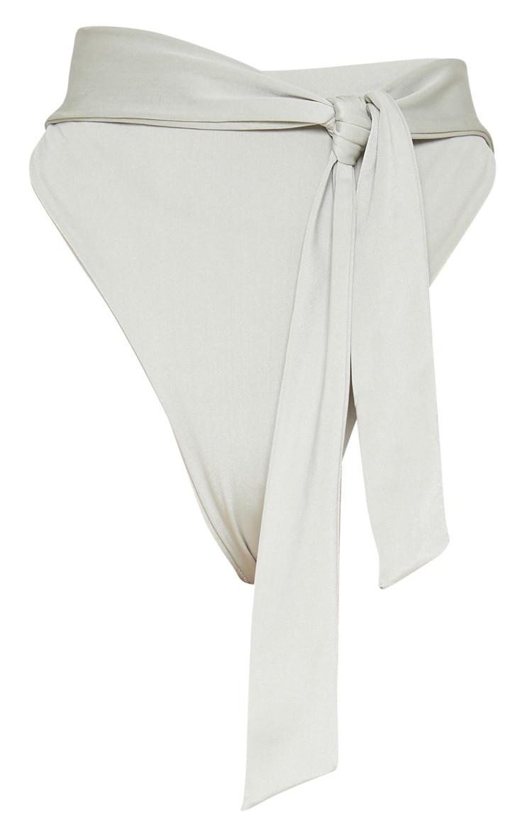Sage Green High Tie Waist Bikini Bottom 3