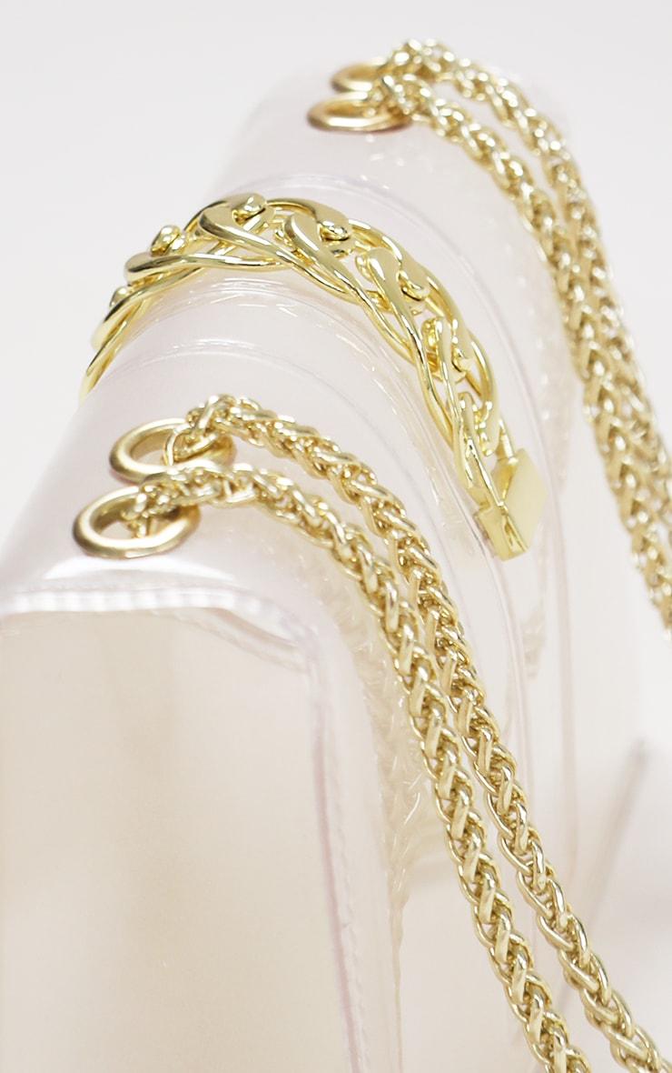 Clear Gold Chain Cross Body Bag 3