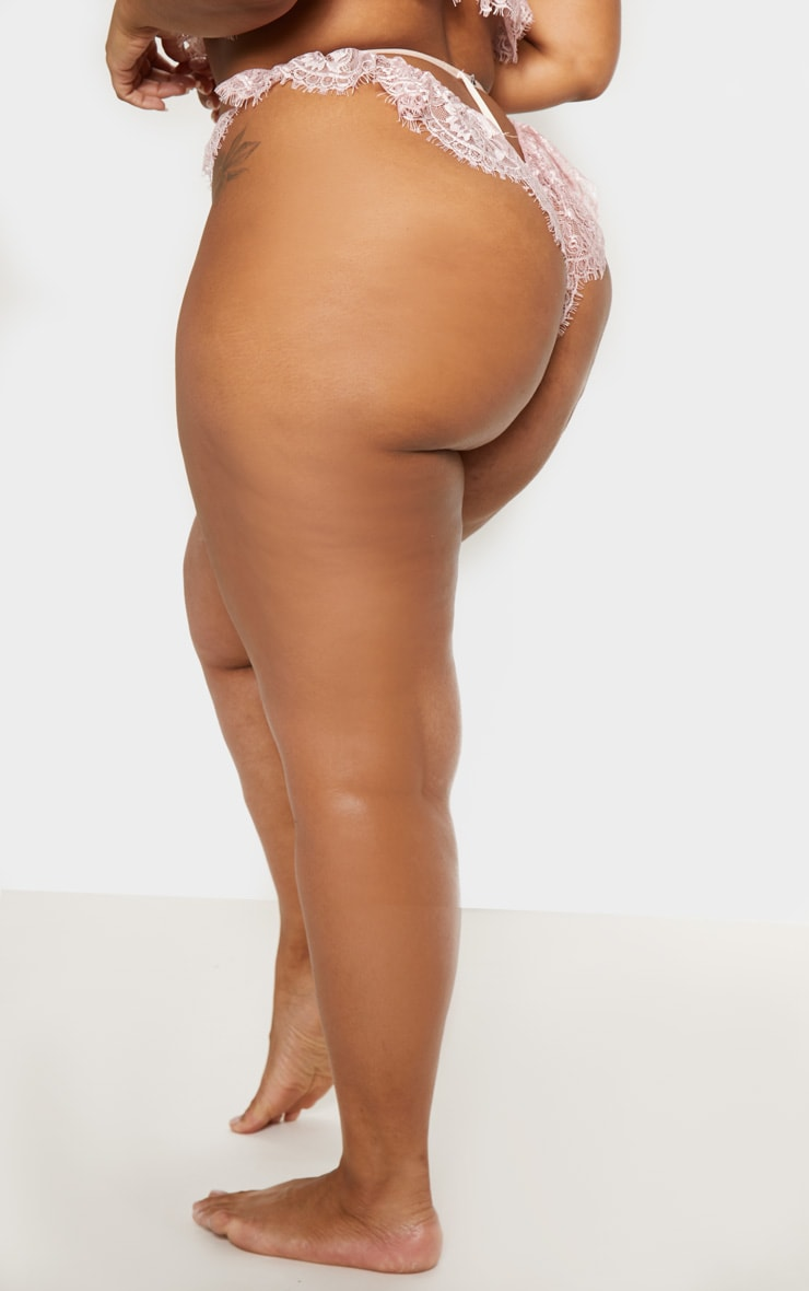 Plus Rose Lace Frill Knicker 4