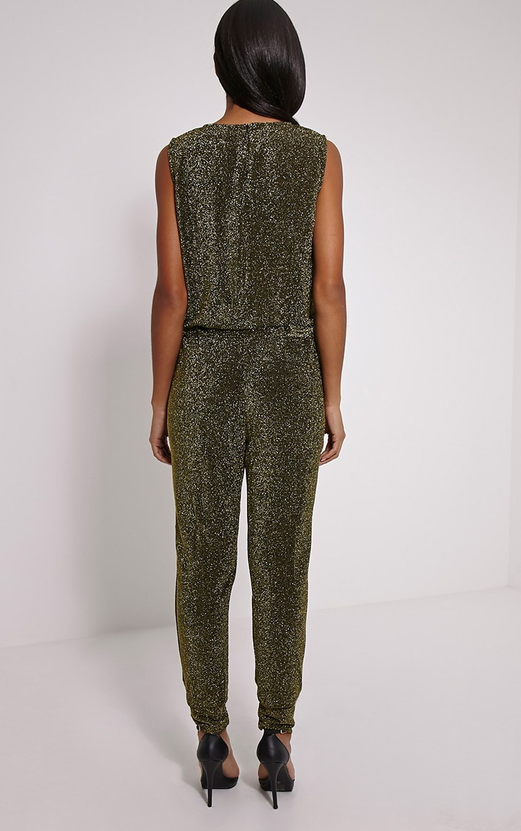 Monet Gold Glitter Jumpsuit 2