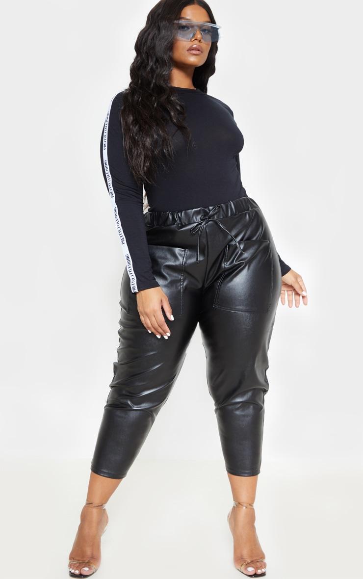 PRETTYLITTLETHING Plus Black Long Sleeve Bodysuit  5