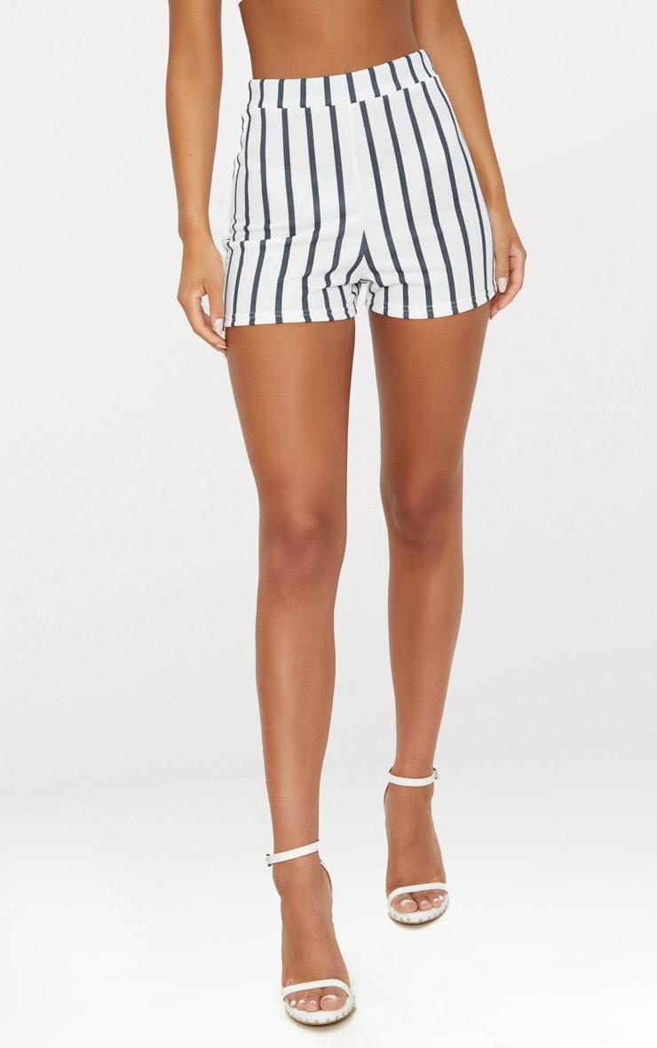Black Stripe Suit Shorts 2