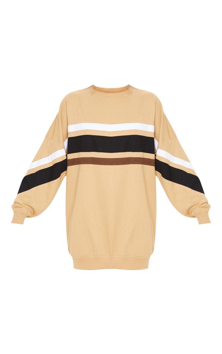Biscuit Contrast Stripe Detail Sweat Dress 3