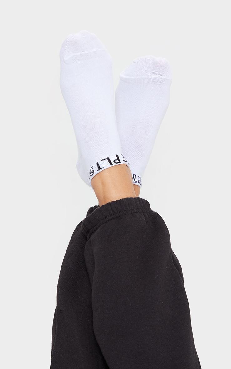 PRETTYLITTLETHING White 3 Pack Sport Ankle Socks 3